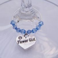 Flower Girl Wine Glass Charms